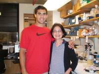 CURE student Thomas Romero and  Dr. Shu-Ching Huang, Dana-Farber Cancer Institute